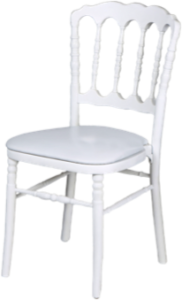 Chaises napoleon blanches