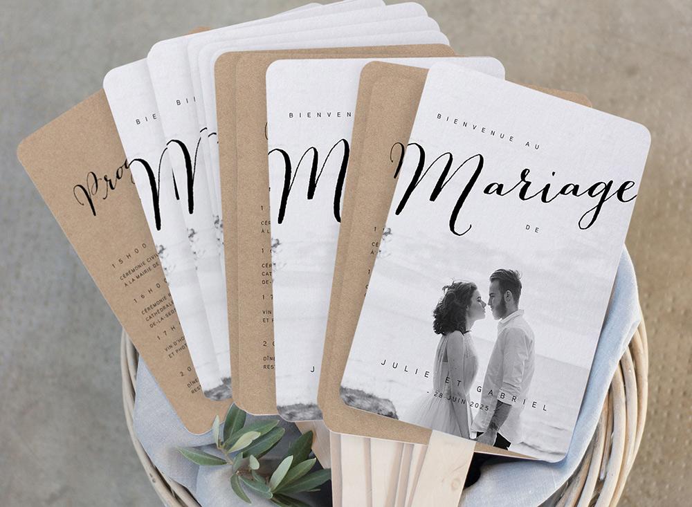 Les livrets de cérémonie feront un merveilleux souvenir de votre mariage.
